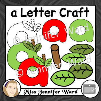 Aa Letter Craft Template Clipart BUNDLE