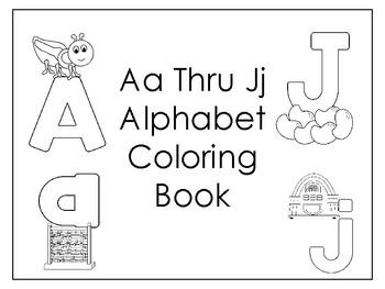 Aa Thru Jj Coloring Book