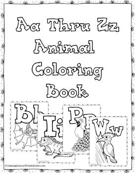 Aa Thru Zz Animal Animal Coloring Sheets