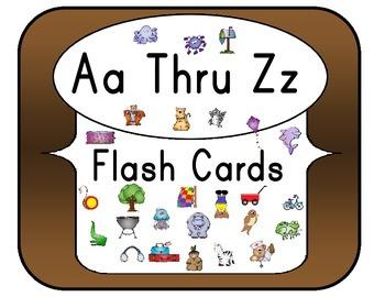 Aa Thru Zz Flash Cards Set 1