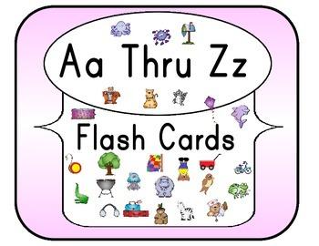 Aa Thru Zz Flash Cards Set 2