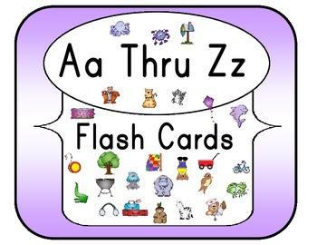 Aa Thru Zz Flash Cards Set 4