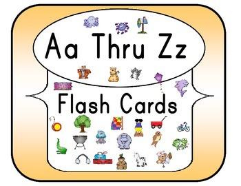 Aa Thru Zz Flash Cards Set 5