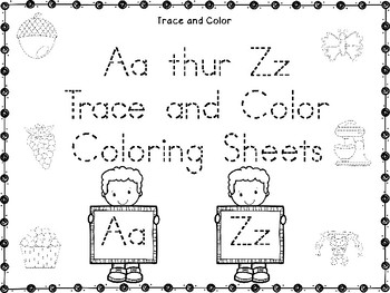 Aa Thru Zz Trace and Color Coloring Sheets