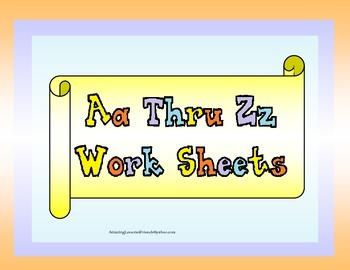 Aa Thur Zz Work Sheets