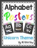 Aa - Zz Alphabet Posters (KG font + Unicorn theme) #backtoschool