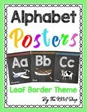 Aa - Zz Alphabet posters (KG font + Leaf border theme) #backtoschool