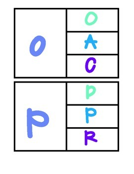 Aa-Zz Lowercase to Uppercase Match Up Clip Cards!