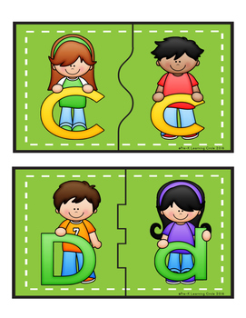 Aa - Zz  Uppercase & Lowercase Picture Match Puzzles