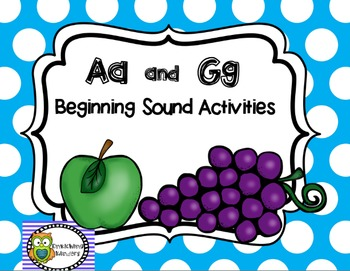 Letters Aa and Gg Beginning Sounds Activity Pack