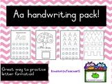 Aa handwriting practice