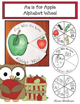"Free Alphabet Craft: ""Aa is for Apple"" Alphabet Wheel"