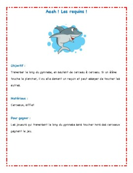 Aah! Les requins! (French Phys. Ed. activity)