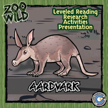 Aardvark -- 10 Resources -- Coloring Pages, Reading & Activities