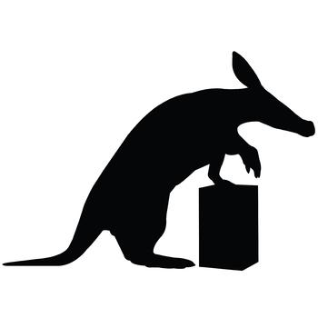 Aardvark Silhouettes Clipart Clip Art(AI, EPS, SVGs, JPGs, PNGs, PDF)