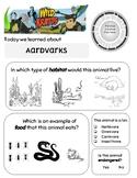 Aardvark Town Wild Kratts Worksheet