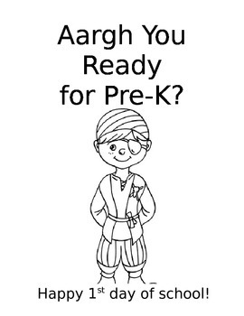 Aargh You Ready for Pre-K