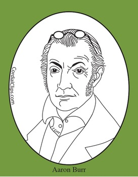 Aaron Burr Clip Art, Coloring Page, or Mini-Poster
