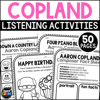 Aaron Copland, Classical Composer Music Unit Study, November Birthday
