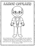 Aaron Copland, Famous Composer Informational Text Coloring