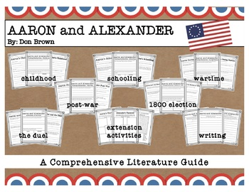 Hamilton for Kids! Aaron and Alexander by Don Brown Literacy Pack 24 Activities
