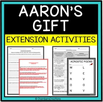 Aaron's Gift by Myron Levoy by Chambers Creations | TpT