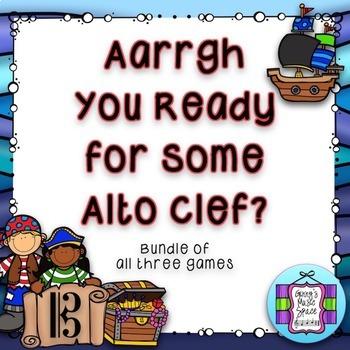Aarrgh You Ready - Alto Clef Game - Bundle