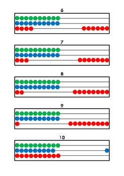 Abacus: 100 pictures - counting from 1 to 100 [color]