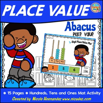 Abacus Place Value - Hundreds Tens and Ones Activity