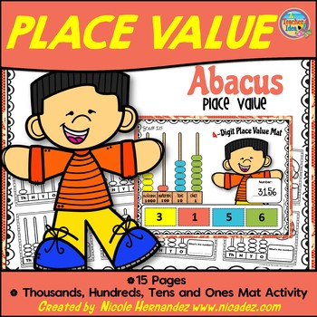 Abacus Place Value - Thousands Hundreds Tens and Ones Activity