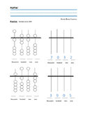 Abacus Practice worksheet up to 1000 place value