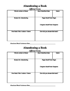 Abandoning a Book Form