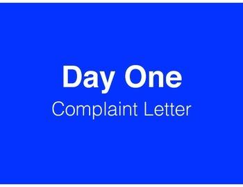 Complaint Letter (Abbreviated MAISA Unit)