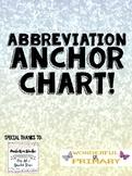 Abbreviation Anchor Chart