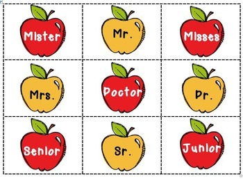 Abbreviation Apples