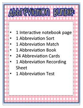 Abbreviation Bundle