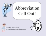 Abbreviation Call Out!