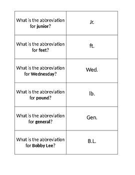 Abbreviation Cards