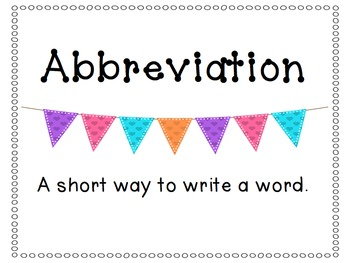 Abbreviation Celebration