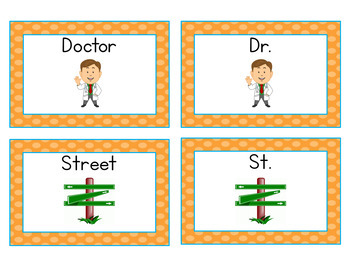 Abbreviation Concentration Matching Game