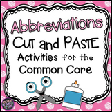 Abbreviations 2nd Grade Cut and Paste Printables
