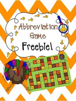 Abbreviation Game FREEBIE!