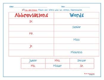 Abbreviation Matching