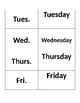 Abbreviation Matching Cards and Worksheets