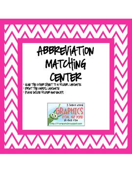 Abbreviation Matching Center