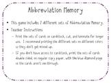 Abbreviation Memory