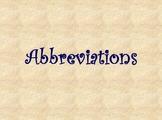 Abbreviation Practice Powerpoint