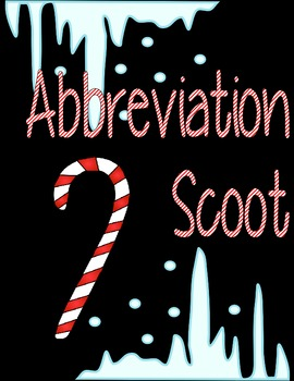 Abbreviation Scoot - Holiday Theme