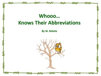 Abbreviation Scoot Task Cards