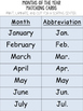 Montessori Abbreviation Sorts: Days of the Week and Months